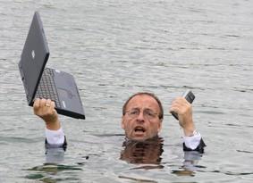 Manager im Wasser